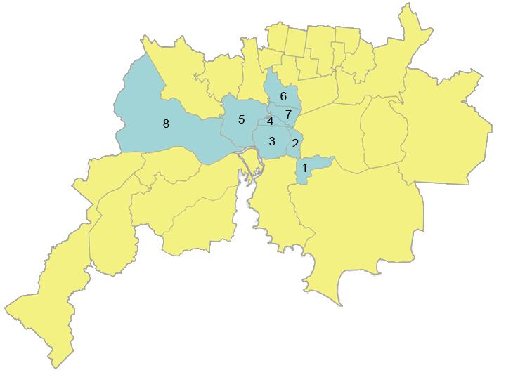 Mapa da Base Territorial do Sindigêneros Canoas